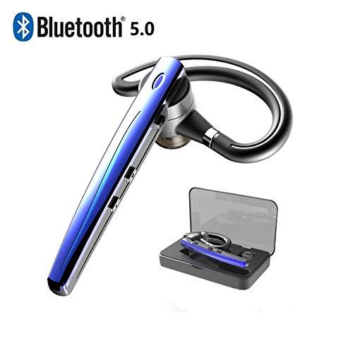 Bluetooth ヘッドセット5.0 ワイヤレスブルートゥースヘッドセット 高音質片耳 内蔵マイクBluetoothイヤホンビジネス 快適装着