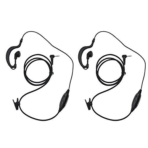 Great Deal! abcGoodefg G Shape Walkie Talkie Earpiece Headset with Mic for Motorola 1 Pin 2.5mm Two ...