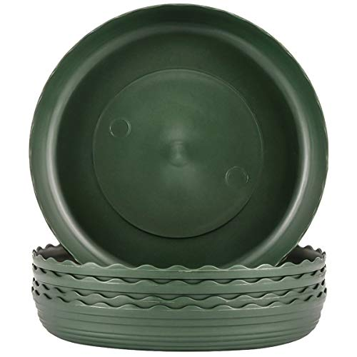 15/20/25CM Plastic Plant Saucers Tray for Plant Flower Pot of Garden indoor outdoor 5 pack (10 inch)