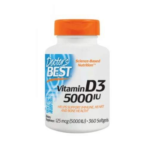 Doctor's Best, Best Vitamin D3, 5000 IU, 360 Softgels 2 Pack