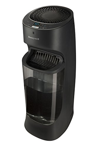 Honeywell Top Fill Digital Humidistat Tower Humidifier, Black