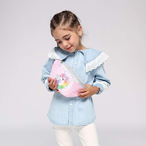 TAIPPAN - Riñonera Purpurina niñas diseño Unicornio