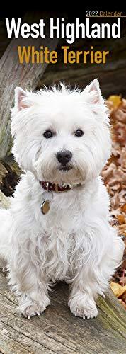 West Highland Terrier Slim Calendar 2022 | Dog Breed Slimline Calendar – 12 Month: Address Books, Journals & More