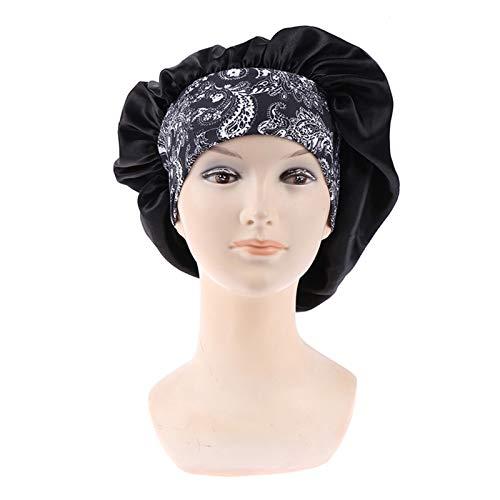 HHSUU Satén de Mujer Sábado sólido Sombrero de Dormir Nightcap Unisex Cap Bonnet de Nuit (Color : 3)