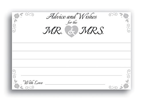 Home Advantage 4x6 Advice and Wishes for The Mr. & Mrs. Cards