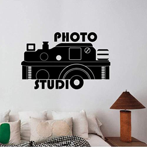 Etiqueta de la cámara etiqueta foto estudio ventana etiqueta de la pared cartel decoración interior materiales respetuosos del medio ambiente pvc arte etiqueta mural 58X37 cm