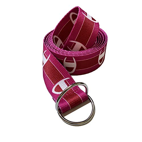 Champion Canvas Web Belt for Men with Silver Double D-ring Buckle Casual Belt (Pink, 51inch/130cm)