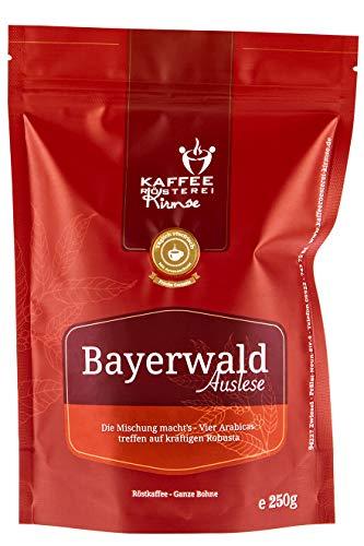 Kaffeerösterei Kirmse I Kaffee Bayerwald Auslese I 250g I Kaffeemischung I Kaffee gemahlen I Handverlesen I Fair gehandelt I Schonend geröstet I Wenig Säure I Filterkaffee I 80% Arabica + 20% Robusta