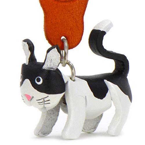 Europea de pelo corto de gato Felix–Pequeños Gatos de llaves colgante de piel, una idea de regalo para mujeres y hombres en la banda de gato Accesorios bajo Cuello