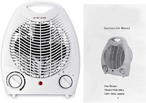 ZHENAO Ahorro de Energía Del Ventilador Calentador Eléctrico 2000W Ventilador Habitación Calentador 220V Eléctricos Portátiles Calentador Mini 3 Calefacción Calefacción Aire Configu