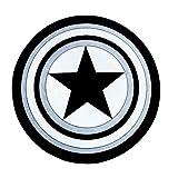 Alfombra alfombras Capitán América Shield impreso alrededor de la alfombra alfombras suaves for la sala antideslizante Alfombra Silla de la estera del piso for la decoración casera ( tamaño : 101cm )