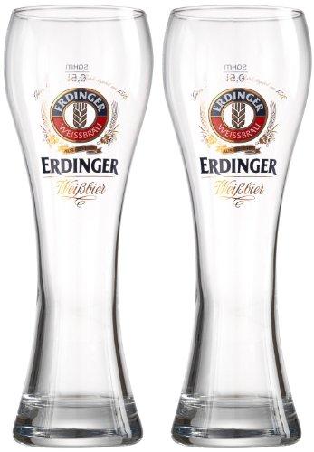 Erdinger Pint, Brand New Beer Glasses, Set Of 2 Glasses, 0.5 Litre Lined