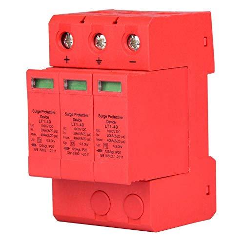 3P 3.0KV Protector de Sobretensiones Doméstico,DC Pararrayos de baja Tensión para Protección Contra Rayos(3p40ka)