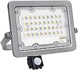 Foco LED con Sensor de movimiento 30W OSRAM, Proyector Exterior Protección IP65 Impermeable, Luz Natural 4000K Gran Luminosidad, Detector PIR para Jardín, Patio, Garaje, Terraza... (30)