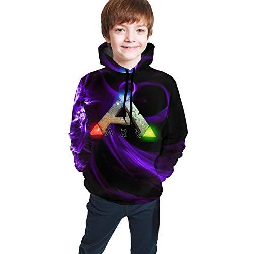 ATRXZ Jugend Jungen Mädchen Ark-Survival-Evolved Logo Merch Langärmliges Kapuze Hoodie Sweatshirt Clothes for Teens Kapuzenpullover