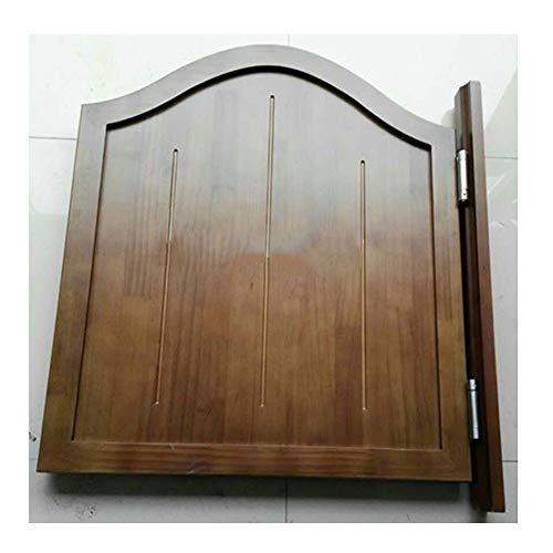 Wufeng svängdörrar innerdörrar skjutdörr kvalitet gångjärn bil Close bar uteplats entré dörr automatisk stängning justerbar (färg: Brown, storlek: 70 x 100 cm)