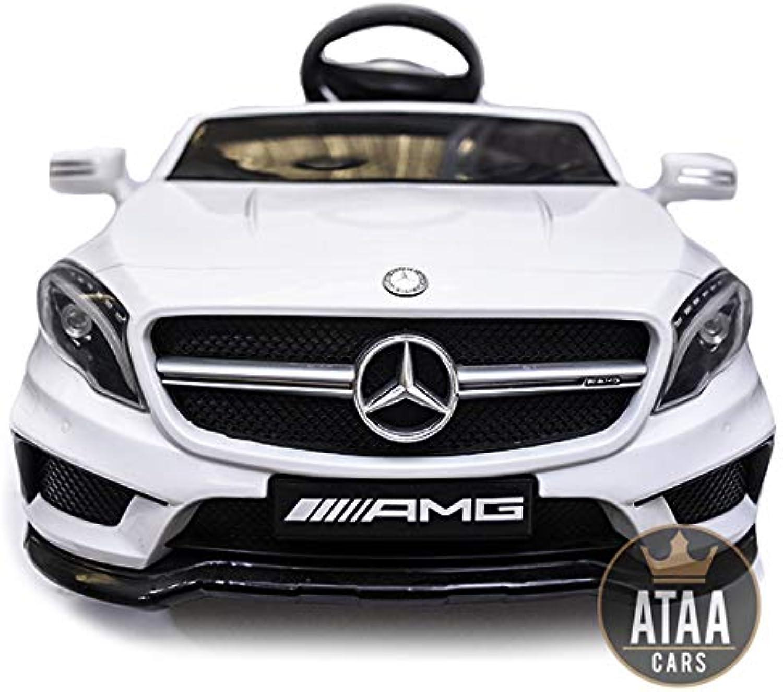 comprar descuentos ATAA Mercedes GLA Coche eléctrico para Niños batería batería batería 12v con Mando Padres teledirigido - blancoo  ahorra hasta un 50%