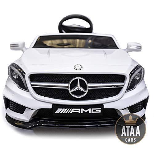 ATAA Mercedes GLA Coche eléctrico para niños batería 12v con Mando Padres teledirigido - Blanco