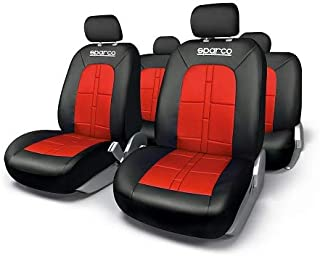 SPARCO Universal Seat Cover Set, Black/Red, SPC1015RS-D