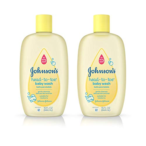 Johnson's Head-To-Toe Baby Wash, Gentle Cleanser, 15 Fl. Oz. (Pack of 2)