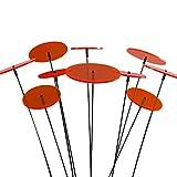 SUNPLAY 'Sonnenfänger-Scheiben in ORANGE, 10 Stück im Set, 5 Stück à 7 cm und 5 Stück à 10 cm Durchmesser + 35 cm Schwingstäbe