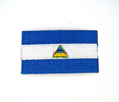 Parche bordado con la bandera nacional de Nicaragua, tamaño grande para planchar