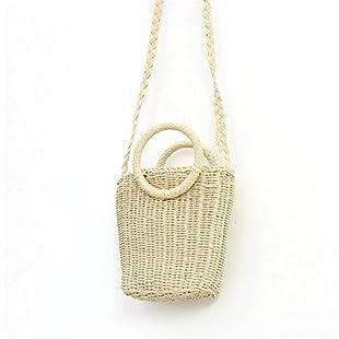 johlye Beach Bag Woven Bag Bohemian Style Fashionable Handmade Handbag Straw Bag Crossbody Woven Bag