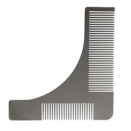 Andux Zone Barba Pettine in Acciaio Inox da Uomo Styling Barba Modella d'Argento BXGSZ-01