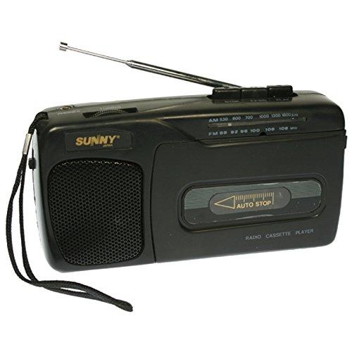 SUNNY 8018 - Radio Cassette portátil con Altavoz Incorporado (17 x 9,3 x 7 cm)