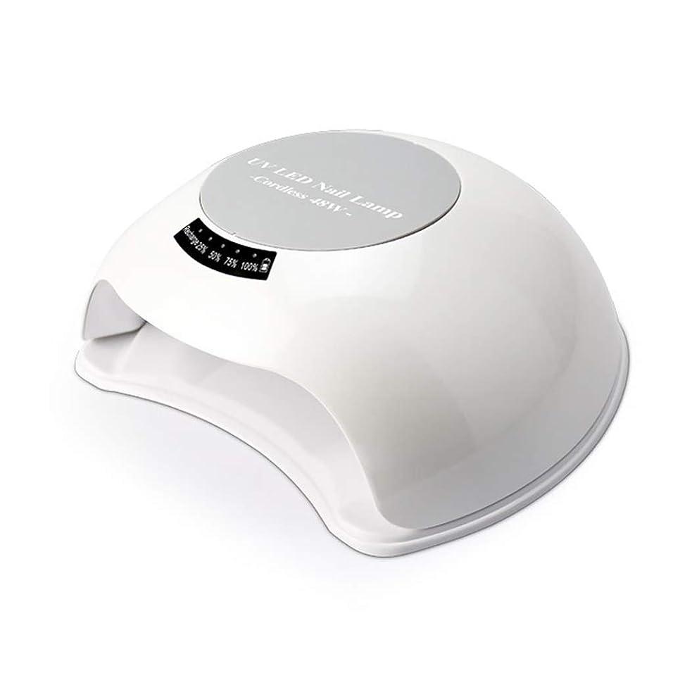 鷲添加イサカネイル光線治療装置自動導入、乾燥日光UV LEDデュアル光源48Wファーストドライヤー
