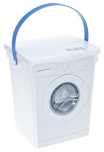 allaroundprofi24 Waschpulverbox Waschmittelbox Vorratsdose + 1 gratis Mircofasertuch -VANI- 30 x 30 cm Kunststoff 5 l Waschmitteldose Waschmittelbehälter