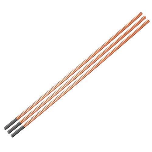Cobre con revestimiento de carbono de 15/64 x 14 pulgadas, 3 varillas de goteo de carbono electrodos de cobre