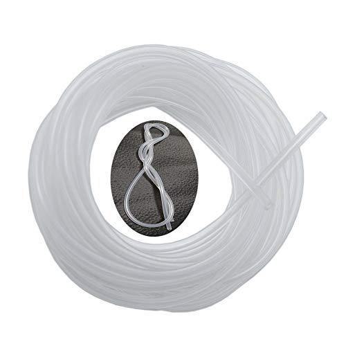 Pure Silicone Tubing,2mm ID x 4mm OD,16.4 Feet,Flexible Silicone Rubber Hose Pipe Tube Aquarium Air Pump Transfer