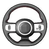 MIOAHD Housse de Volant de Voiture en Cuir Bricolage Cousue à la Main, adaptée pour Renault Twingo RS 2014-2019 Twingo 3 2014-2019