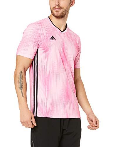 adidas Herren TIRO 19 JSY T-Shirt, True pink/Black, L