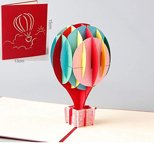 BANGBANGSHOP Gitaar 3D Pop up Verjaardagskaart Bruiloft Kerstmis Verjaardag - Laser Cut Pop up Card Liefde Alle gelegenheden - Handgemaakte Thanksgiving Wenskaart voor Kids Baby Kleurrijke ballon