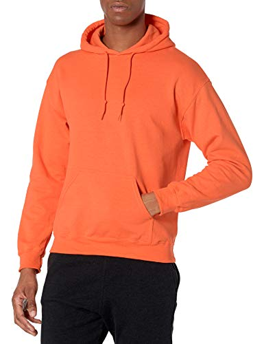 Gildan Men's Fleece Hooded Sweatshirt, Style G18500, Safety Orange, Large