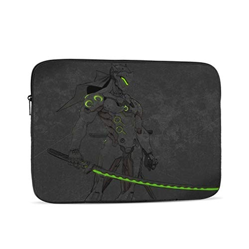 Genji Shimada Overwatch Waterproof Laptop Shoulder Messenger Bag Polyester Zipper, for 10 Inch 12 Inch 13 Inch 15 Inch 17 Inch Case Sleeve Protective Soft Padded 17 inch