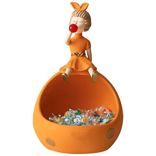 JDYDDSK Burbujas para Mujer Adornos de niña Adornos Caja de Almacenamiento Flowerpot Jarrón Driso Decoración de Decoración Adornos Tabla Arte Art Crafts Lindo Cenicero,Amarillo
