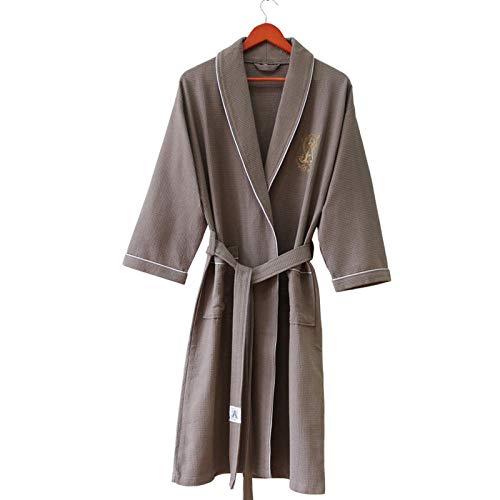 TaoRan damesbadjas, dunne katoenen badjas, hotel voor heren en dames, badjas voor thuis, nachthemd
