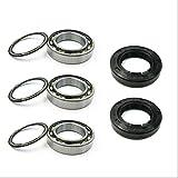 BAAIFC Juego de rodamientos de retenes de aceite para rueda delantera y trasera para CRF250R CRF450R CRF250X CRF450RX (color : kit delantero)