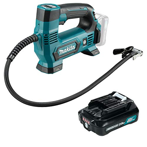 Makita Akku-Kompressor 12V MP100DZ 8,3 bar 1x 2,0 Ah Li-Ion Akku im Karton