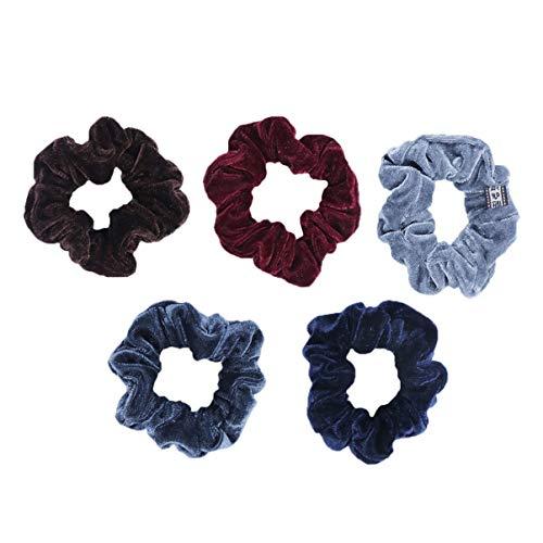 Lurrose 5 stuks scrunchies fluweelelastische haarband haarband normale lak haarring voor meisjeshoofdband