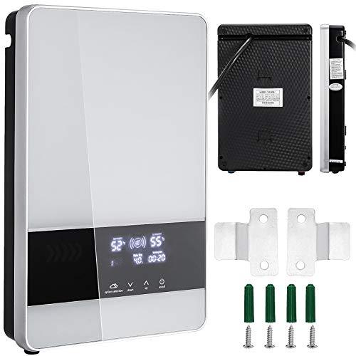 VEVOR Warmwasserbereiter 24 KW, Elektrische Warmwasserbereiter 380 V, Dusche Durchlauferhitzer 30-60 ℃, Warmwasserboiler mit 2 Rohr für Küche Bad, Elektronischer Durchlauferhitze 11,6 L pro Min.
