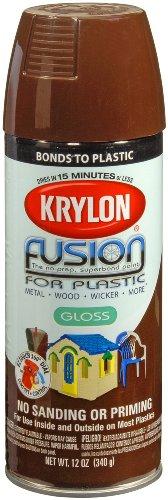 Krylon K02340001 K02340007 Fusion Spray Paint, 12 Ounce (Pack of 1), Espresso
