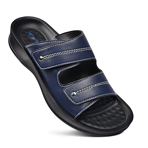 AEROTHOTIC Women's Orthotic Arch Support Slide Sandals (Quinn Navy)