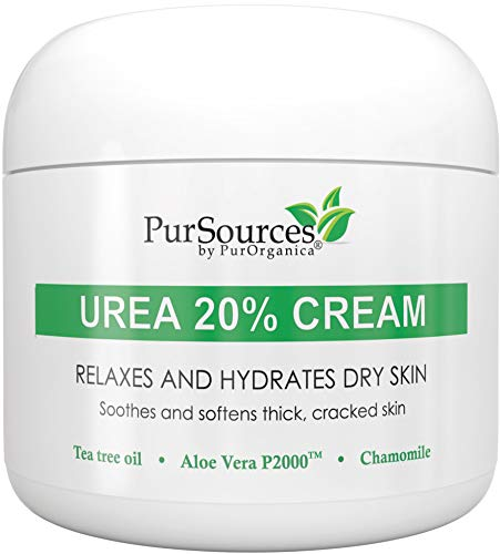 PurOrganica Urea 20% Healing Cream 4 oz - Best Callus Remover - Moisturizes and Rehydrates Hands, Feet and Knees to a Healthy Appearance - Soothes and Softens Thick, Cracked, Rough Dead and Dry Skin