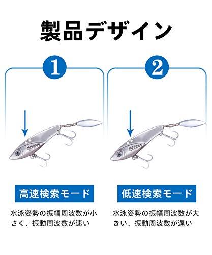 LDTルアーアイアンマービーバイブレーションメタルジグセット遠投必殺ヒラメ海釣りシーバス太刀魚ヒラメ青物タチウオ10g14g20g30g5個セット(20g*5個)