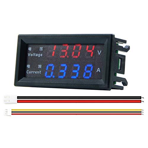 BIlinli DC 100V 200V 10A voltímetro amperímetro 4 dígitos de Alta precisión Dual LED Pantalla Digital Amp Volt Merter medidor de Panel