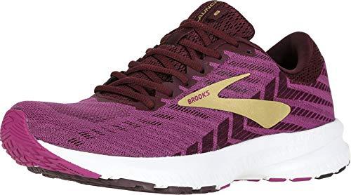 Brooks Womens Launch 6 Running Shoe - Aster/Fig/Gold - B - 7.0